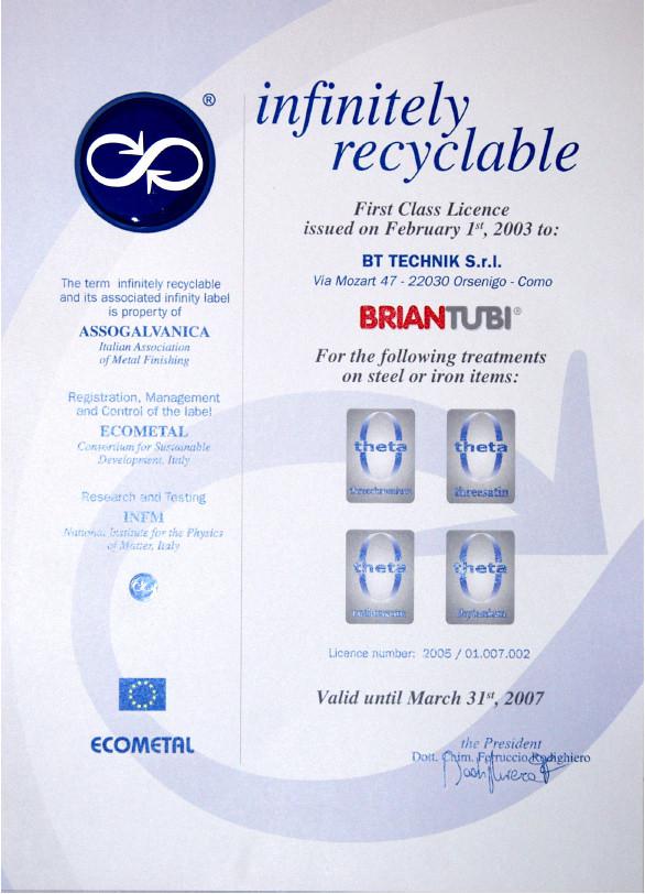 infinitely recyclable briantubi
