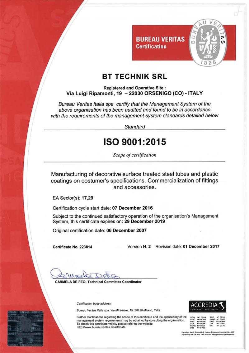 bt technik certificazione